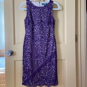 NWT Lauren Ralph Lauren Lace Sheath Dress Size 4P